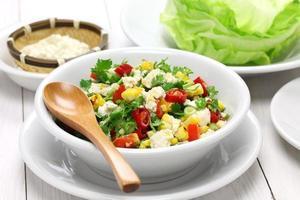 vegetarische Salatwickel