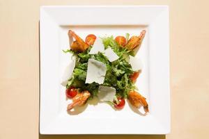 frischer Garnelensalat