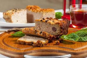 traditionelle leckere Pastete. foto