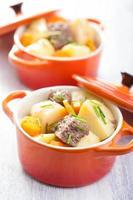Rindfleischeintopf mit Kartoffeln und Karotten