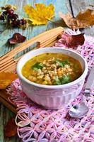 Suppe mit Perlgerste foto