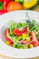frischer Frühlingssalat.