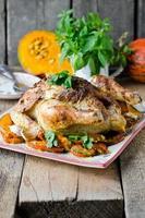 gebackenes Huhn mit Kürbis foto