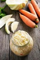 Sauerkraut im Glas foto