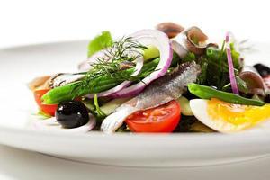 Salat mit Sardellen foto