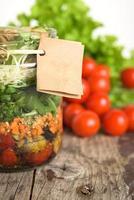 Salat im Glas foto