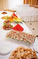 Vorspeise auf dem Tisch foto