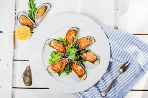 Muscheln mit Parmesan foto