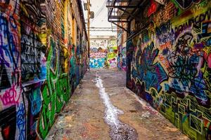 Graffiti-Gasse, in Baltimore, Maryland. foto
