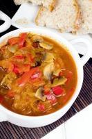 Letcho mit Paprika, Zucchini und Champignonpilz foto