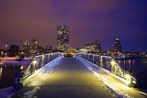 Wintermorgen in Milwaukee foto