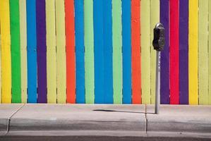 Farbe der Parkuhr foto