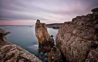 große Felsen Langzeitbelichtung .. foto