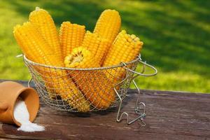 gekochter Mais