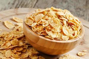 Cornflakes in einer Schüssel foto
