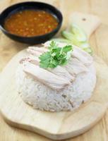 Huhn mit Reis foto