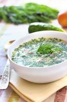 okroshka - russische kalte suppe foto