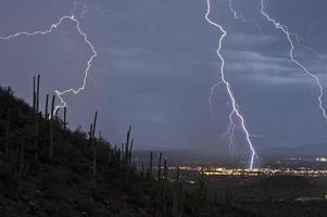 Blitzeinschläge foto
