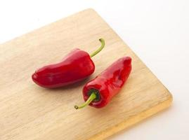 scharfe rote Paprika oder Fresno foto