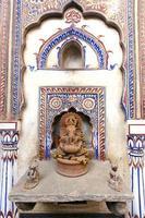 Haveli Fresken und Ganesha foto