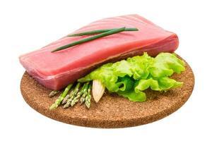 Thunfisch rohes Steak foto