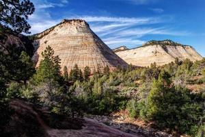 Schachbrett Mesa Zion Nationalpark foto