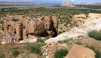 Blick auf die neue mexikanische Wüste foto