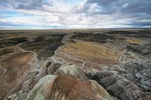 blaue Mesa, versteinerter Waldnationalpark foto