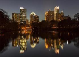 piemont park atlanta nacht foto