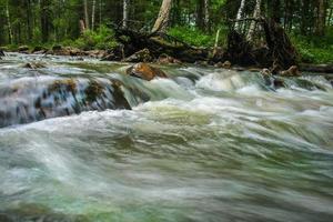 Fluss in Holz foto