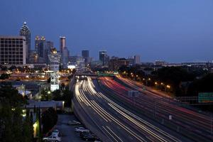 Innenstadt von Atlanta Skyline foto