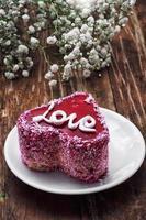 Dessert zum Valentinstag foto