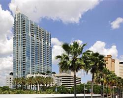 Tampa Skyline am Flussufer