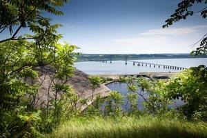 Brücke über einen Fluss, Saint Lawrence River, Quebec, Kanada foto