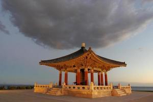 koreanische Glocke der Freundschaft und Glockenpavillon foto
