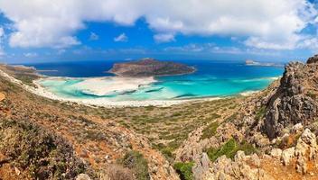 Panorama der Balos Lagune foto