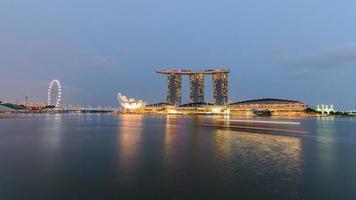 Singapur Stadt in der Nacht foto