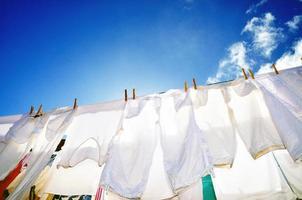 freudige Sommerwäsche foto