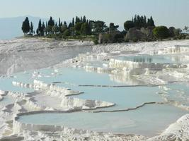Travertin-Terrassenformationen bei Pamukkale, Truthahn