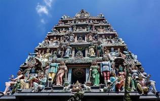 Dach des Sri Mariamman Tempels Singapur foto