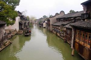 die landschaft wuzhen, chinesische antike stadt