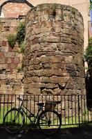 römische Wand von Barcelona. foto