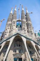 sagrada familia in barcelona, spanien foto