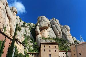 Das Kloster Montserrat ist eine wunderschöne Benediktinerabtei foto