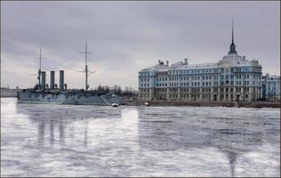 Aurora-Kreuzer in Saint Petersburg