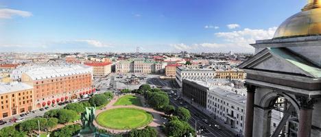 Blick auf st. Petersburg Stadt foto