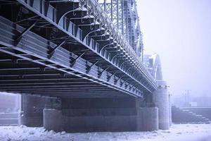 Peter die große Brücke im Winter