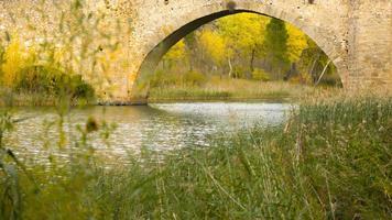 puente romano río foto