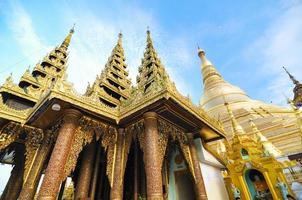 Shwedagon-Pagode in Yangon, Myanmar foto