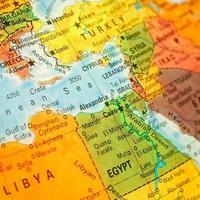 Nahaufnahme Karte Ägypten foto